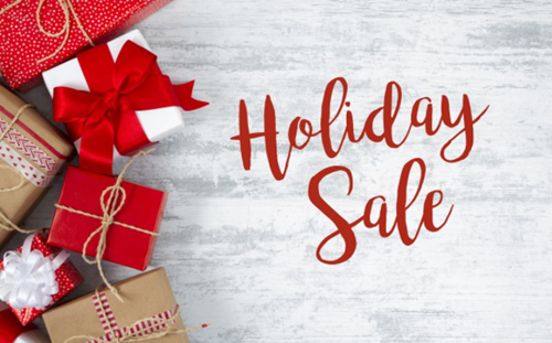 Holiday Sale and Wrapped Gifts