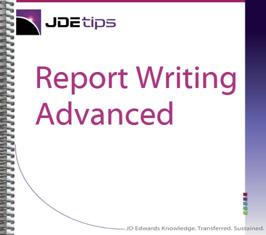 Beginner JD Edwards Report Writing Training